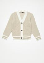 basicthread - Kids boys tipped cardigan - beige