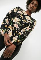 dailyfriday - Boxy blouse with dropped sleeve - multi