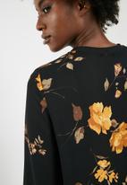 dailyfriday - Sporty rib trim blouse - multi