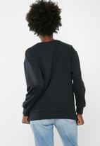 dailyfriday - Long sleeve printed sweat top - black