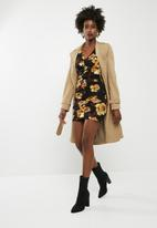 dailyfriday - Structured long sleeve bodycon - multi