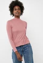 dailyfriday - Turtleneck top - pink