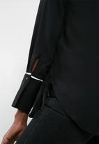 Vero Moda - Dark pipping long sleeve shirt - black