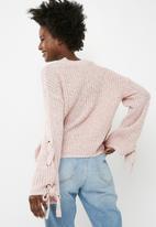 Vero Moda - Viligi crop knit - pink