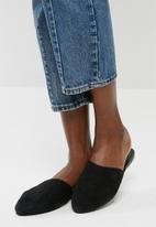 Vero Moda - Lia leather mule - black