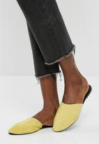 Vero Moda - Lia leather mule - yellow