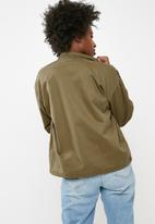 Jacqueline de Yong - Jojo stud canvas jacket - green
