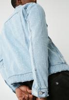 Only & Sons - Rocker denim trucker jacket - blue