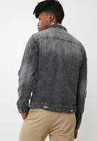Only & Sons - Rocker dark grey denim jacket - black