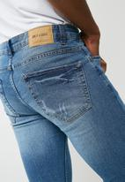 Only & Sons - Warp skinny fit jeans - blue