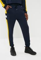 basicthread - Cut & sew sweat pants - navy