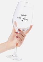 Typo - Mega wine glass