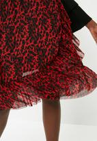 ONLY - Thai frill skirt - red