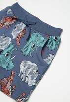 name it - Animal long sweat shorts - blue