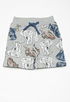 name it - Animal long sweat shorts - grey
