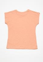 name it - Arjola cap sleeve top - peach