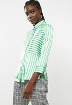 Pieces - Jessica shirt - green & white