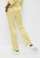 Pieces - Jessica pants - yellow & white