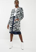 Vero Moda - Zanzana longsleeve open coatigan - black & white