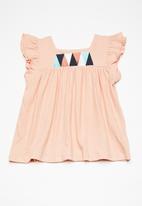 name it - Arikke pap sleeve top - peach