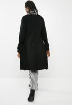 ONLY - Belina long sleeve long cardigan knit - black