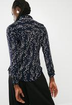 ONLY - Ditte long sleeve shirt - blue
