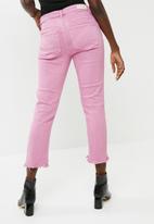 ONLY - Gunvor regular straight jeans - pink