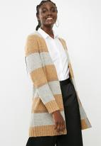 ONLY - Maria cardigan knit - tan & grey