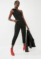 ONLY - One shoulder bow jumpsuit - black