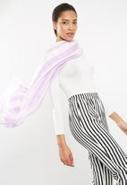 ONLY - Rebecca weaved print scarf - purple & white
