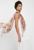 ONLY - Naomi weaved tassel scarf - multi