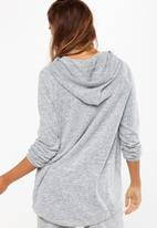 Cotton On - Super soft tie hoodie - grey
