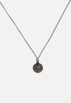 ONLY - Coin chain necklace - gunmetal