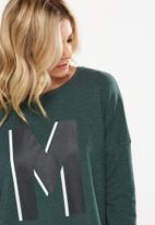 Cotton On - Match back dropped shoulder top - green