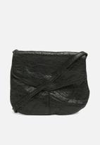 ONLY - Bust leather crossbody bag - black