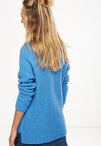 Cotton On - Willa v-neck pullover - blue