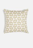 Sixth Floor - Piquant cushion cover - olive & white
