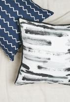 Sixth Floor - Smudge cushion cover - black & white