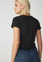 Cotton On - The baby rib short sleeve tee - black