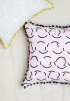 Sixth Floor - Glitch cushion cover - pink & navy