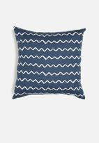 Sixth Floor - Shimmy cushion cover - navy & white