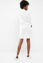 dailyfriday - Short poplin shirt dress - white