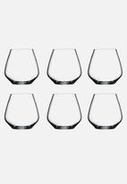 Luigi Bormioli - Stemless wine glass set of 6 - pinot