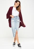 Cotton On - Kimono cardigan - burgundy