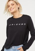 Cotton On - Tbar Tammy chopped graphic long sleeve tee - black