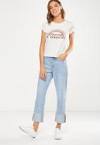 Cotton On - Tbar friends graphic tee - white