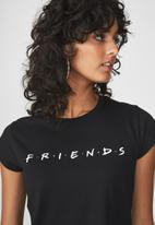 Cotton On - Tbar friends graphic tee - black