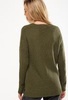 Cotton On - Willa v-neck pullover - khaki