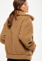 Cotton On - Teddy bomber - brown