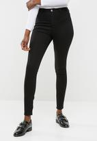 Missguided - Lawless high waisted super stretch skinny - black